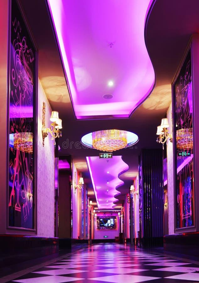 Couloir dans un hôtel de luxe photos stock