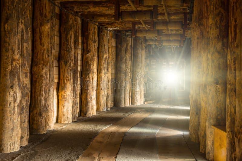 Couloir dans Wieliczka photos libres de droits
