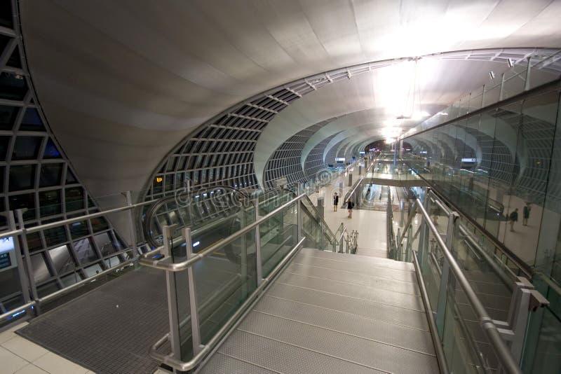 Couloir de déviation d'aéroport photos libres de droits
