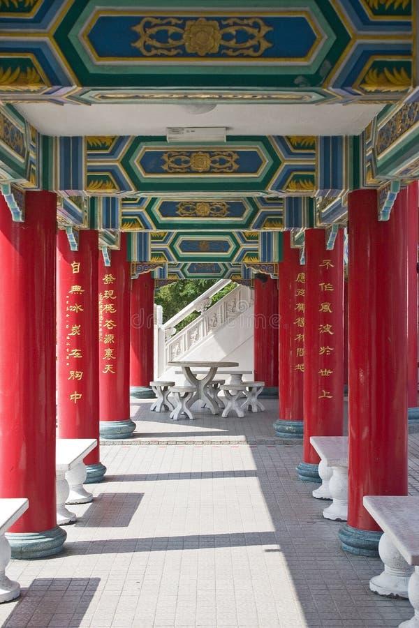 Couloir de temple image stock