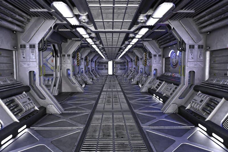 Couloir de vaisseau spatial illustration de vecteur