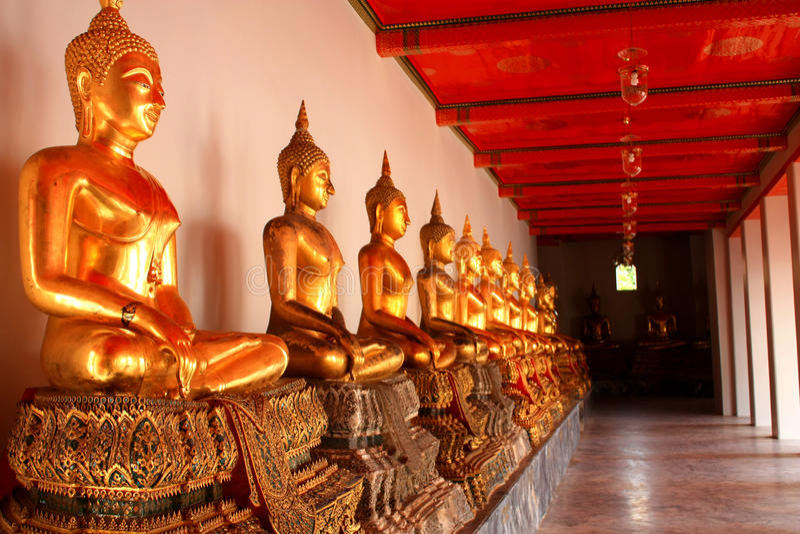 Couloir de Wat photographie stock