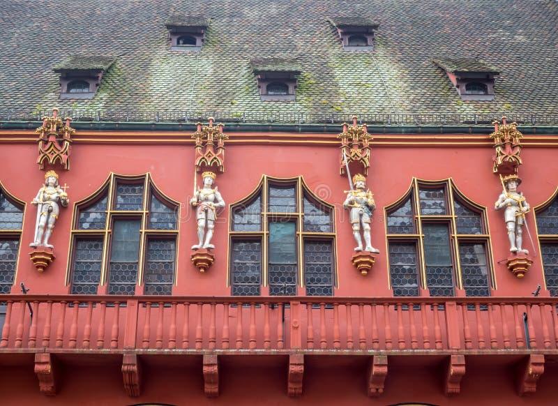 Couloir du bâtiment à Fribourg, Allemagne image stock