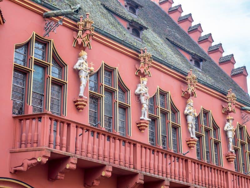 Couloir du bâtiment à Fribourg, Allemagne image libre de droits
