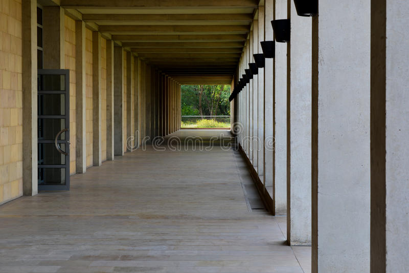 Couloir du beau morceau d'architecture image stock