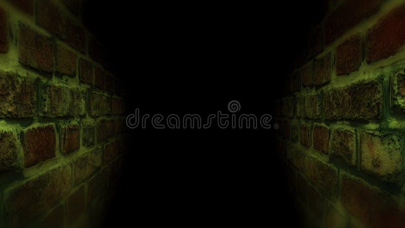 Couloir effrayant noir Fonctionnement dans le couloir sombre photographie stock libre de droits