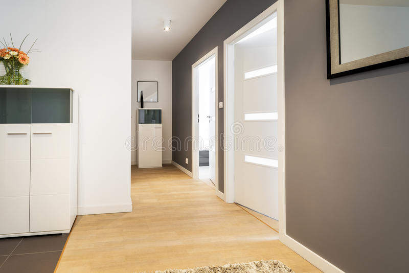 Couloir en appartement moderne photo stock image 39433884 for Couloir appartement