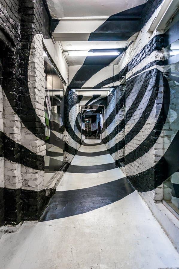 Couloir en spirale photos libres de droits
