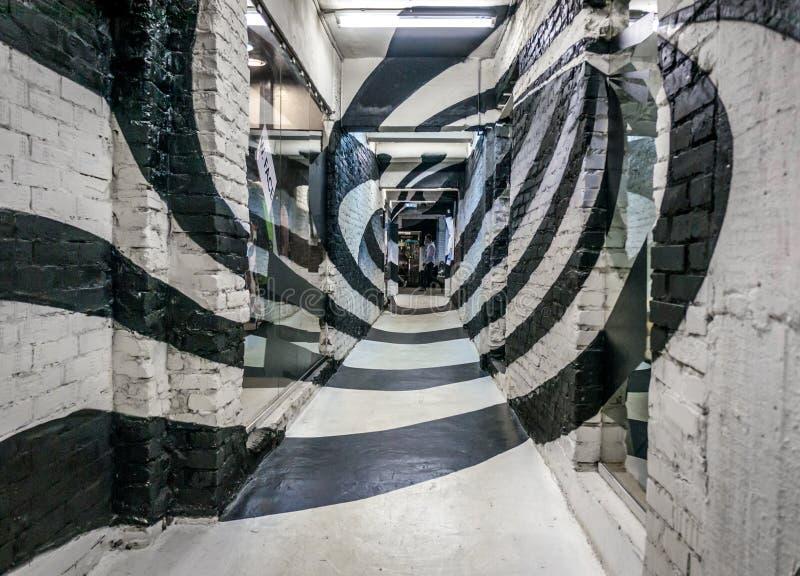Couloir en spirale photographie stock