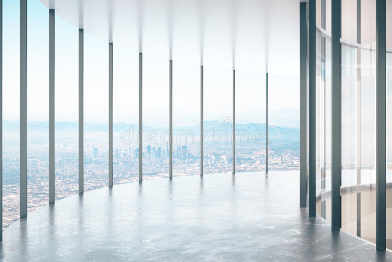 Couloir en verre contemporain illustration stock