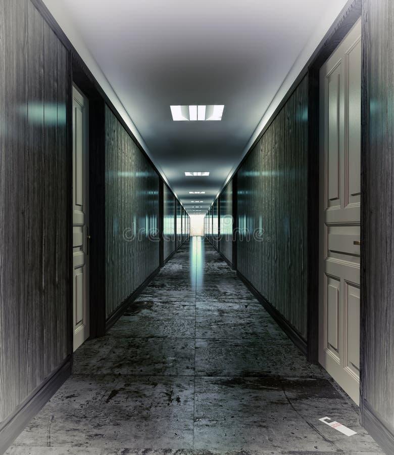 Couloir foncé illustration libre de droits