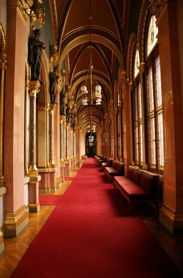 Couloir hongrois du parlement photos libres de droits