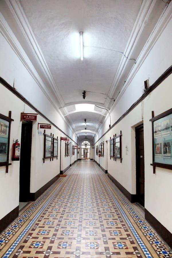 Couloir IIT Roorkee de bâtiment principal images libres de droits