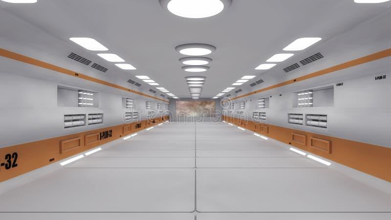 Couloir intérieur futuriste illustration libre de droits