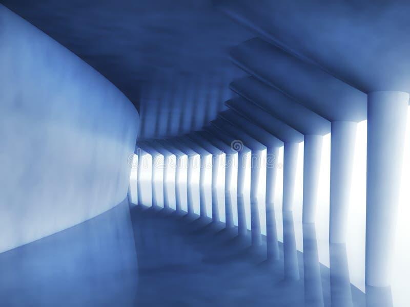 couloir moderne de l'architecture 3d illustration libre de droits