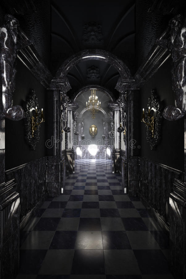 Couloir noir images stock