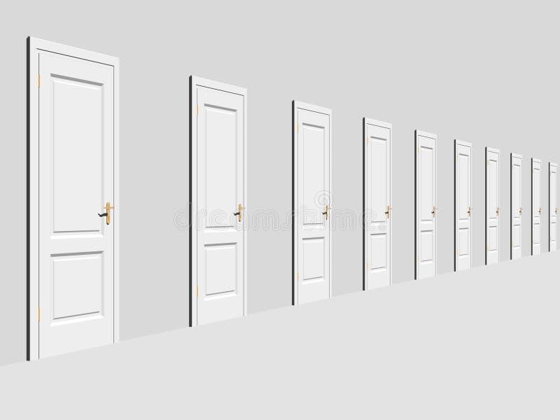 Couloir sans fin illustration stock