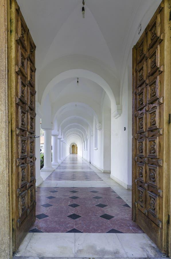 Couloir (station de vacances de Sambata de Sus) photographie stock
