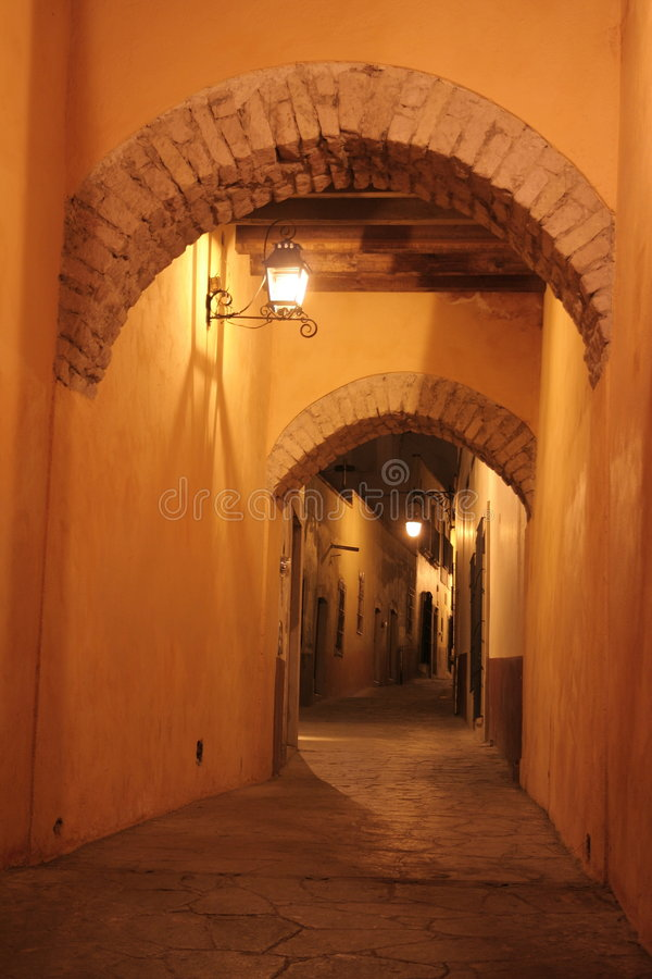 Couloir, zacatecas, Mexique. images libres de droits