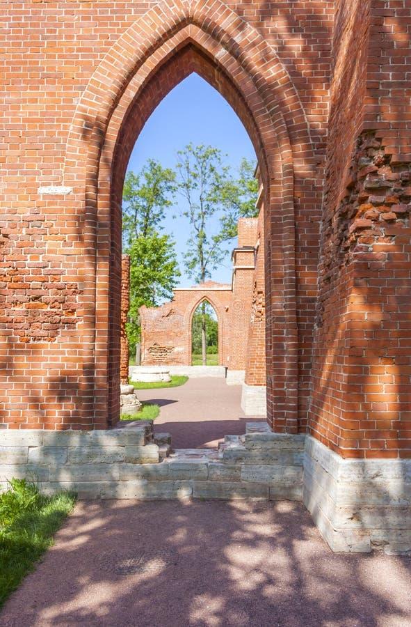 Couloirs des ruines image libre de droits