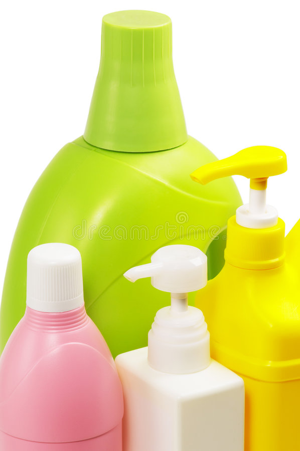 Free Coulored Plastic Bottle Royalty Free Stock Images - 5468369