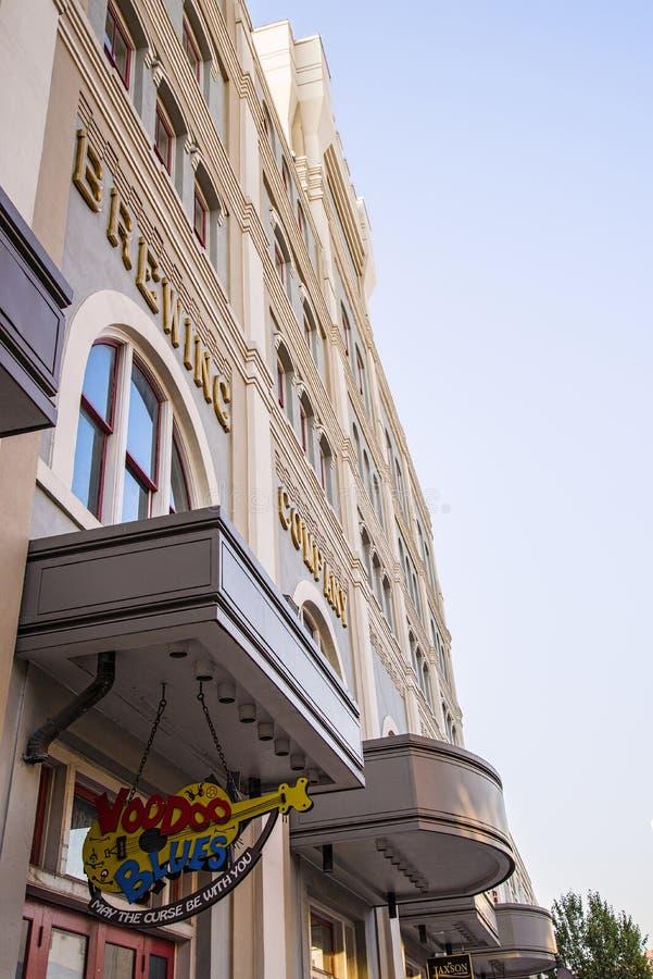 Coumpany κτήριο παρασκευής μπύρας Jax στοκ εικόνες