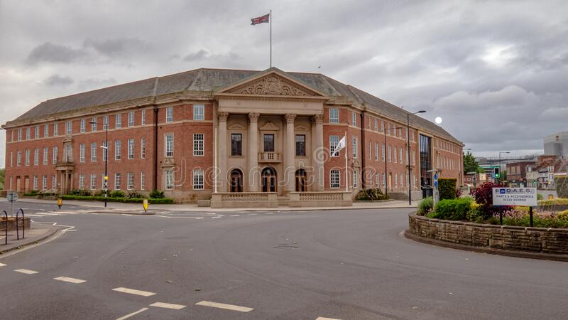 DERBY, UNITED KINGDOM - May 24, 2020 - Derby City Council Building. The Council House Building in Derby City Center, Derbyshire United Kingdom royalty free stock photo