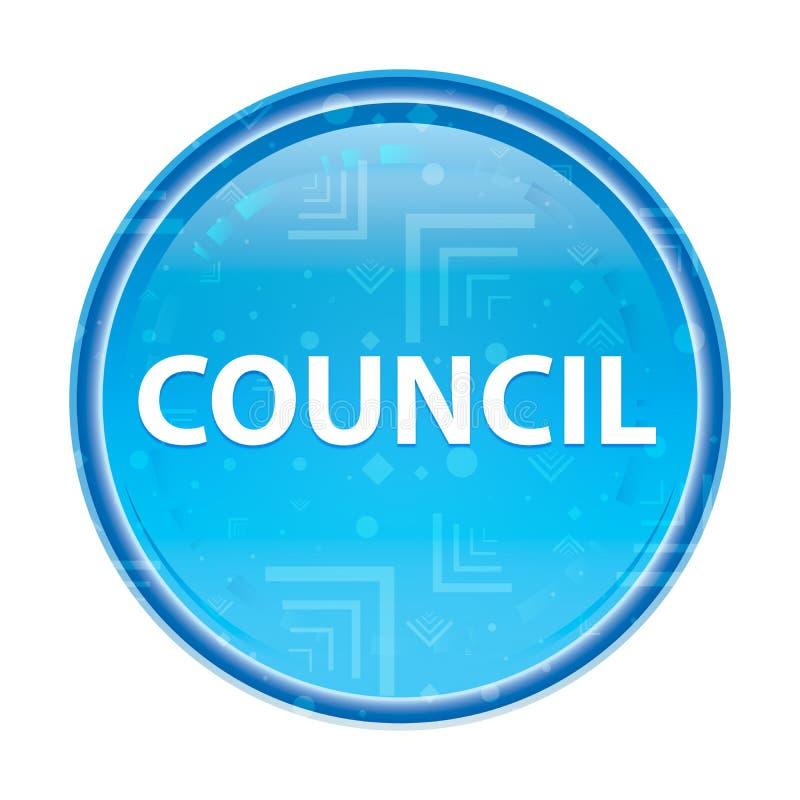 Council floral blue round button. Council Isolated on floral blue round button vector illustration