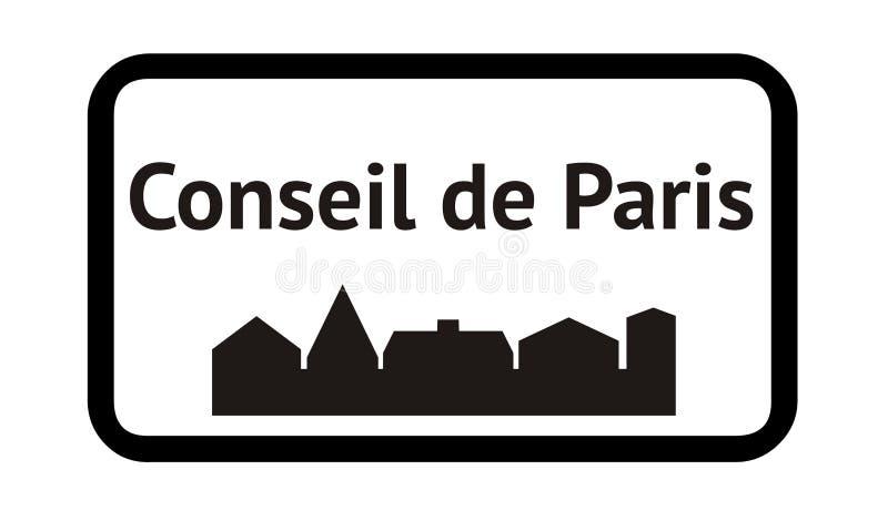 Council of Paris in France. Illustration stock illustration