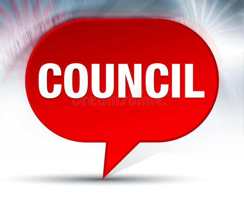 Council Red Bubble Background. Council Isolated on Red Bubble Background royalty free illustration