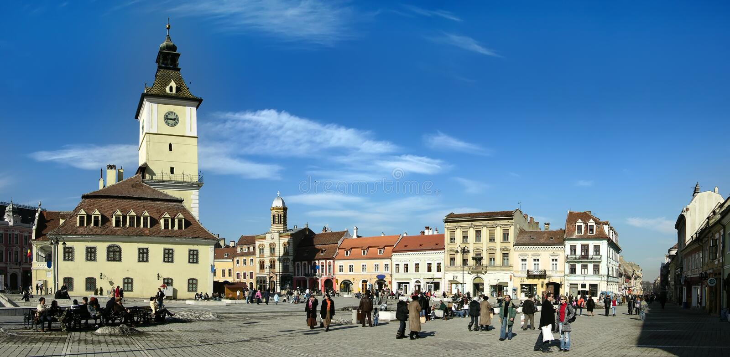 Council Square in Brasov (Romania) stock photography