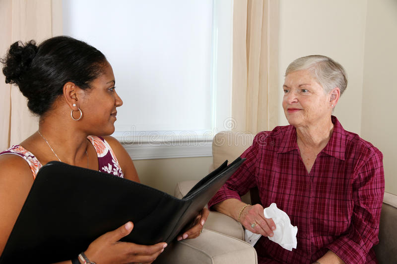 Counseling. A person going through their counseling session royalty free stock photo