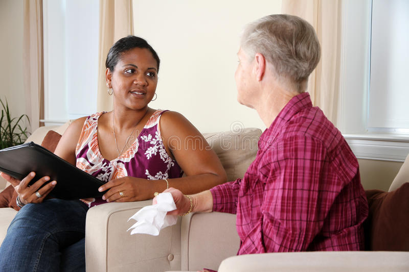 Counseling. A person going through their counseling session stock photo