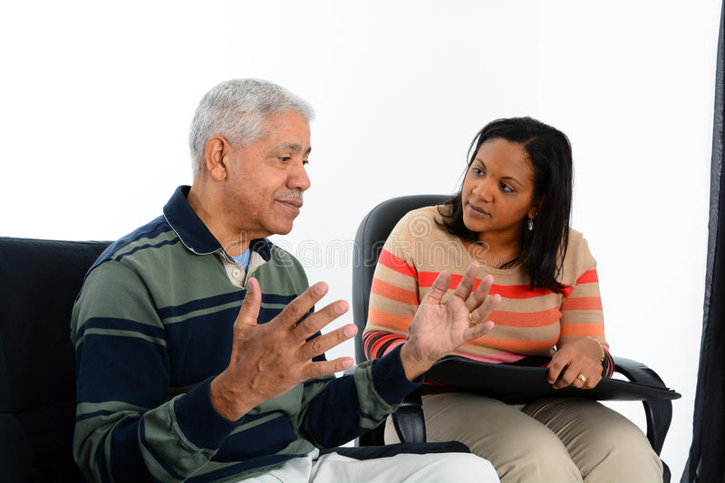 Counseling. Person in need having a counseling session stock images