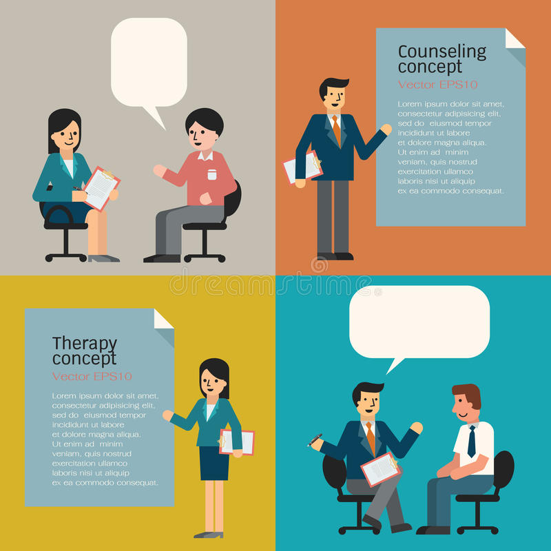 counseling vector illustratie
