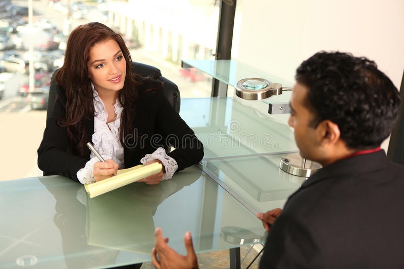 Counseling Clients stock image