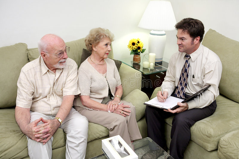 Counseling or Sales Call Overview stock images