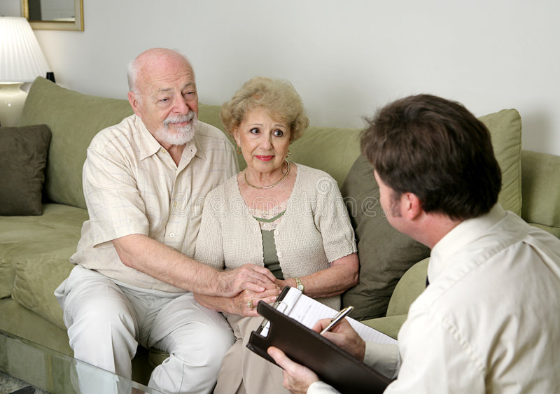 Counseling or Sales Pitch stock photography