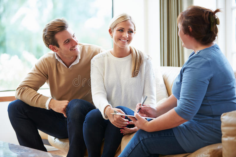 Counselor Advising Couple On Relationship Difficulties royalty free stock image