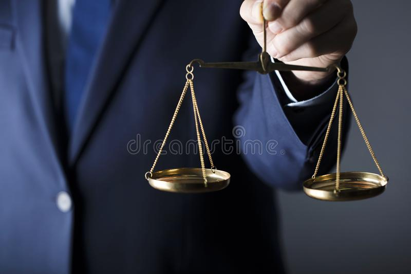 Counselor concept. Scale of justice. Law concept royalty free stock photography