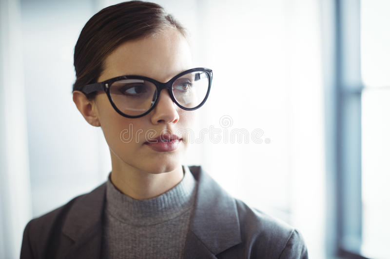 Counselor in glasses at office royalty free stock images