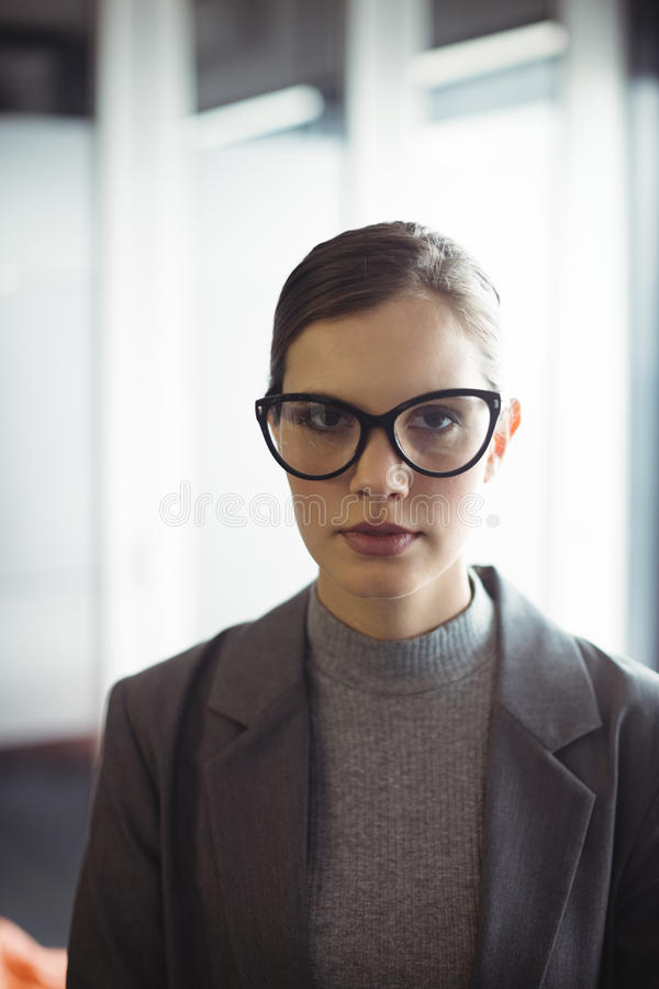 Counselor in glasses at office royalty free stock image