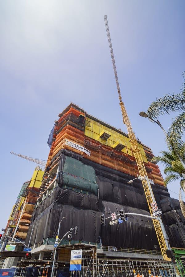 Counstruction miejsce Los Angeles śródmieście fotografia royalty free