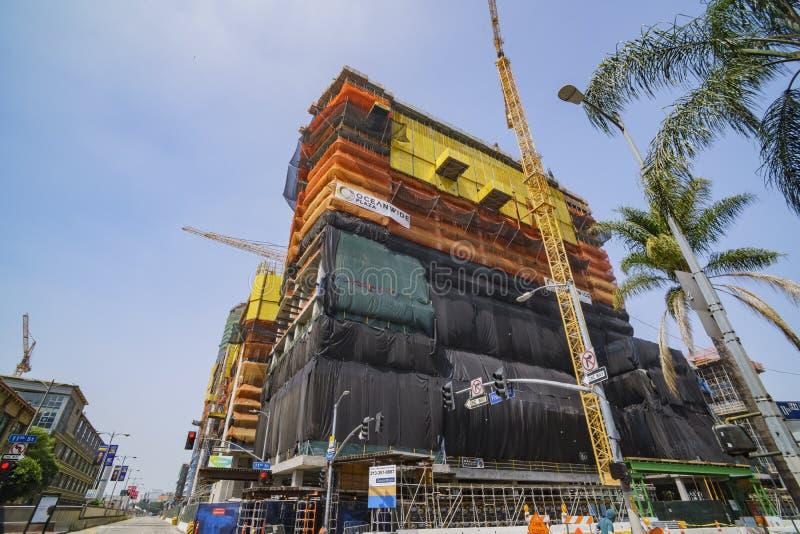 Counstruction miejsce Los Angeles śródmieście zdjęcie stock