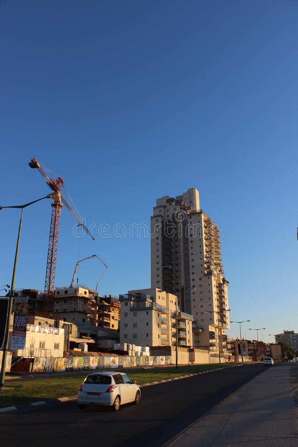 Counstruction site in Beer Sheva Israel royalty free stock photo