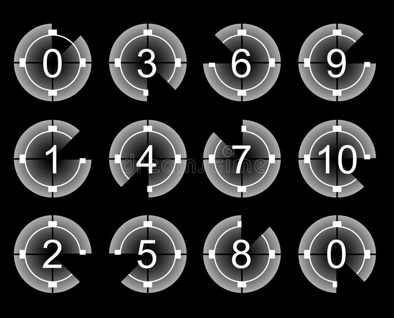 Count-down stock abbildung