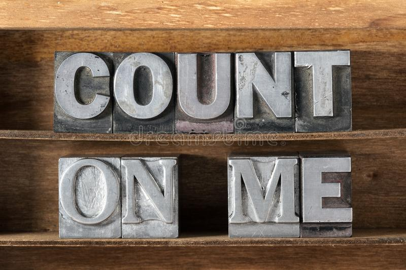 Count on me tray royalty free stock photo