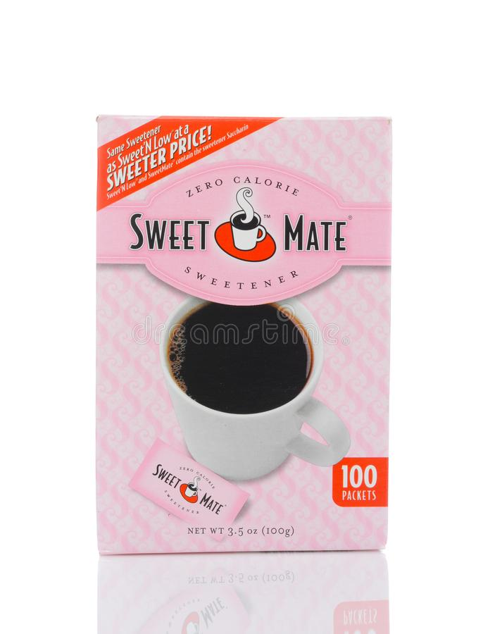 A 100 count package of Sweet Mate Zero Calorie Sweetener stock photography