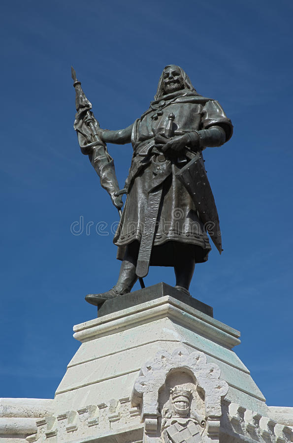 Count Pedro Ansurez statue stock photography