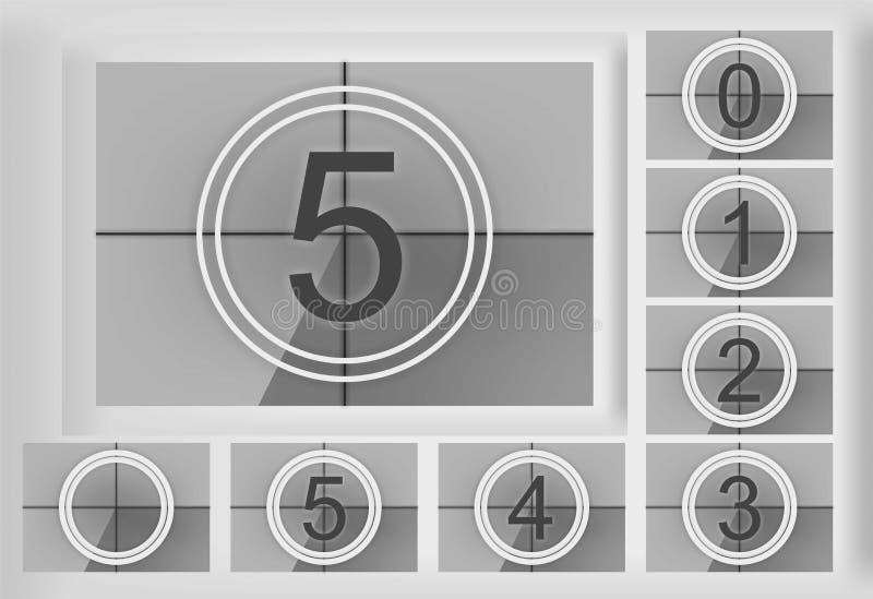 countdown ilustração do vetor